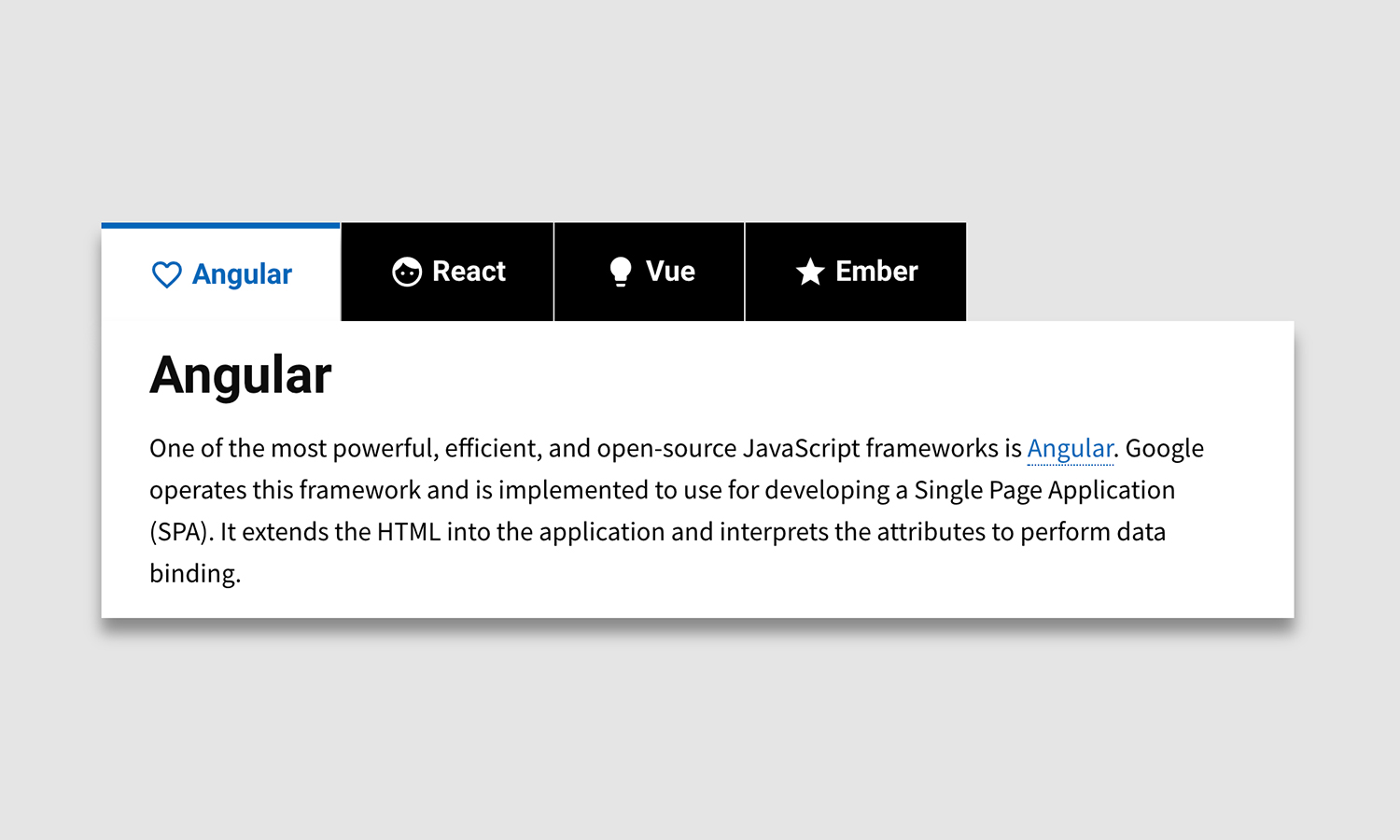 Pure HTML CSS Tabs